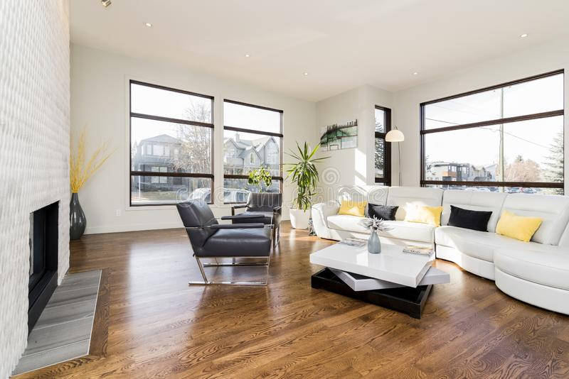 Interior shot of a modern house living room royalty free stock photo