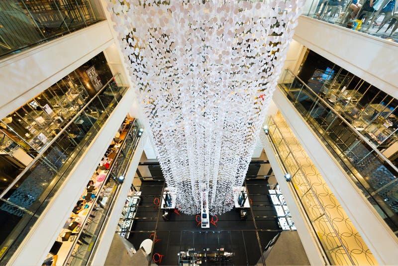 Interior of the Siam Center, Bangkok, Thailand stock photography
