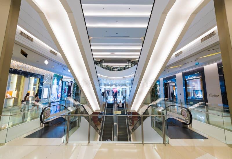 Interior of Siam Paragon Shopping mall, Bangkok stock photography