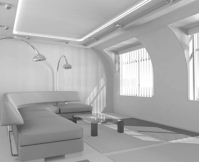 Interior simple fotografía de archivo