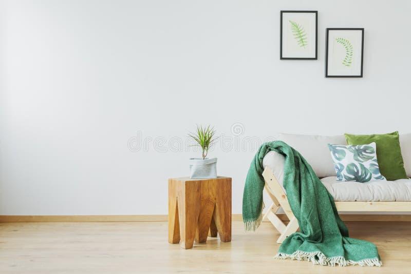 Interior simples do estúdio do eco fotografia de stock royalty free