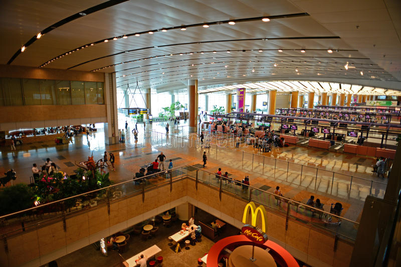 Download Interior Of Singapore Changi Airport From Top View Editorial Photography - Image of singapore, check: 27973092