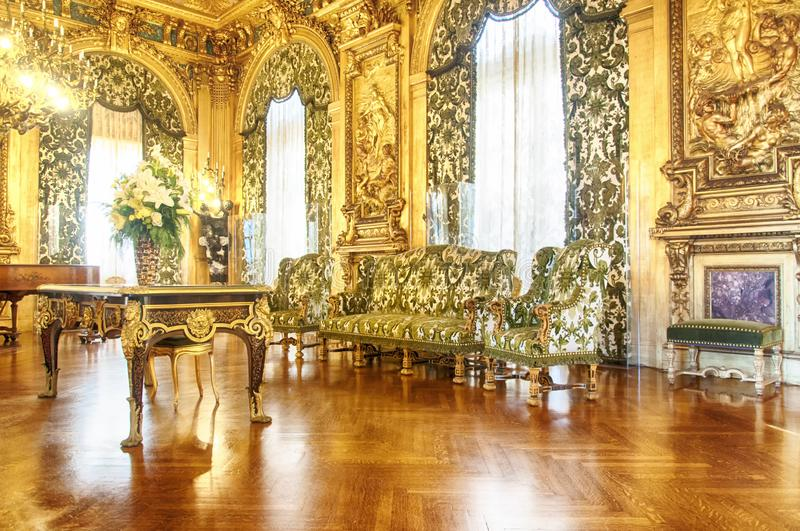 An interior sitting room Marble house royalty free stock photography