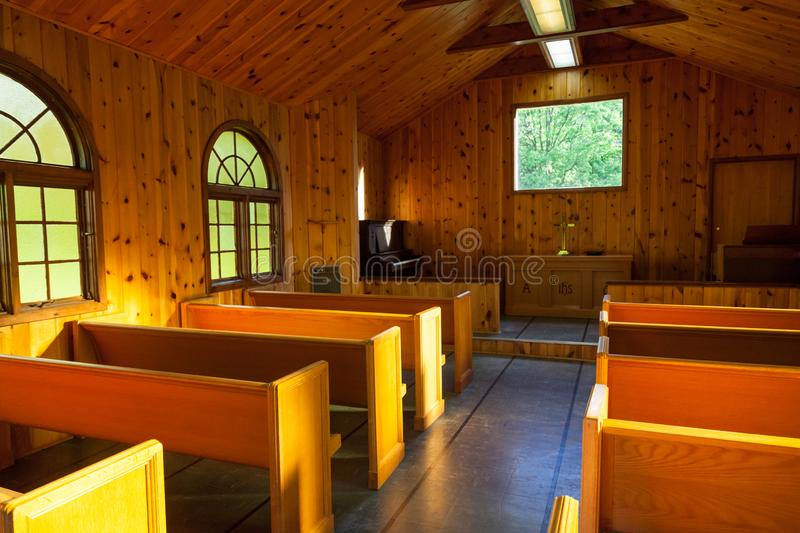 Small Chapel Interior stock photography