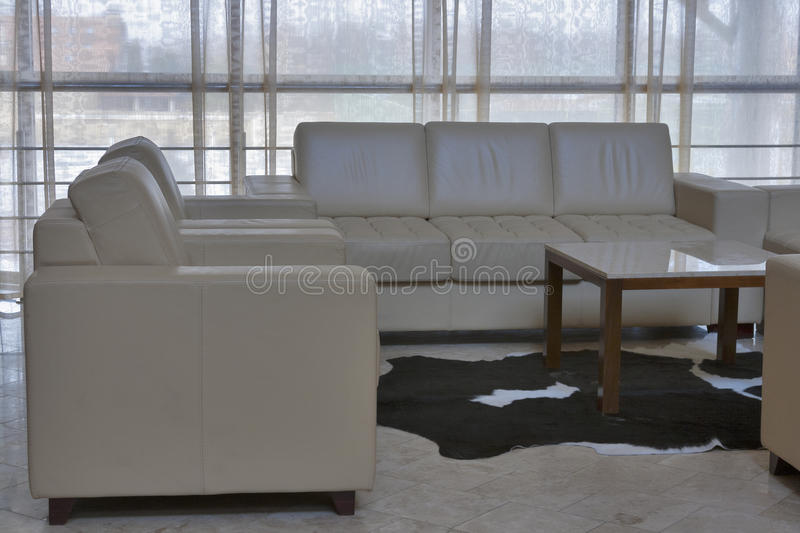 Interior with sofas and armchairs royalty free stock images