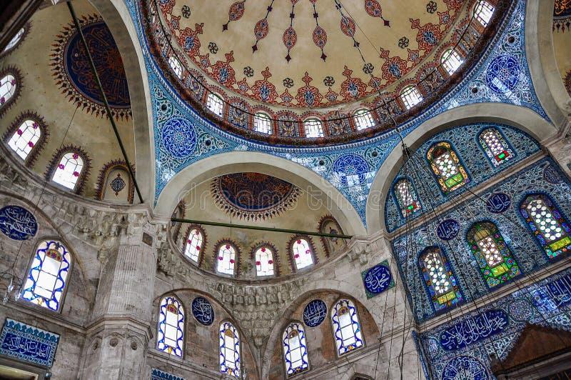 Interior of Sokollu Mehmet Pasha mosque, Istanbul, Turkey. View of the interior of Sokollu Mehmet Pasha mosque, Istanbul, Turkey royalty free stock photo