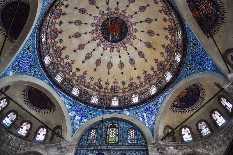Interior of Sokollu Mehmet Pasha mosque, Istanbul, Turkey royalty free stock photos