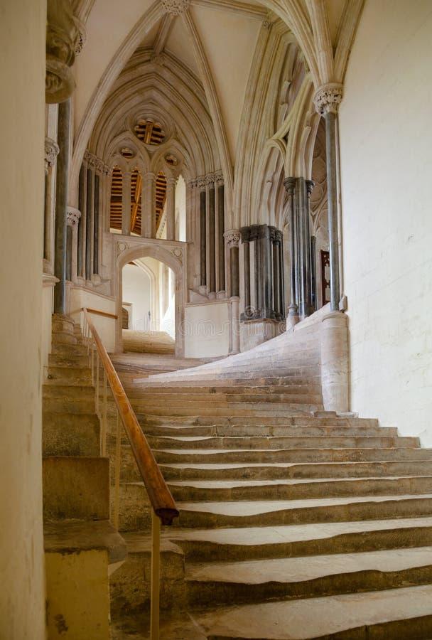 Interior Somerset South West Engla de la casa del capítulo de la catedral de Wells fotos de archivo