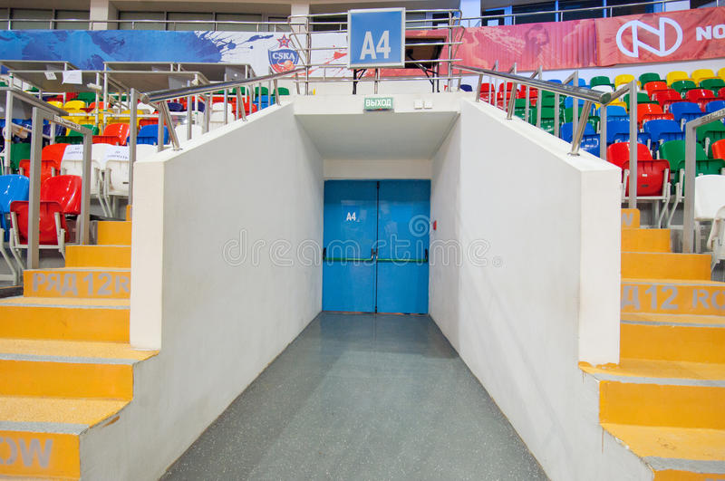 Interior of Sport arena Megasport, Moscow, Russia royalty free stock photos