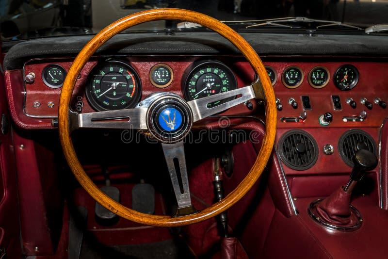 Download Interior Of The Sports Car Maserati Ghibli AM115 By Campana, 1968.  Editorial Stock