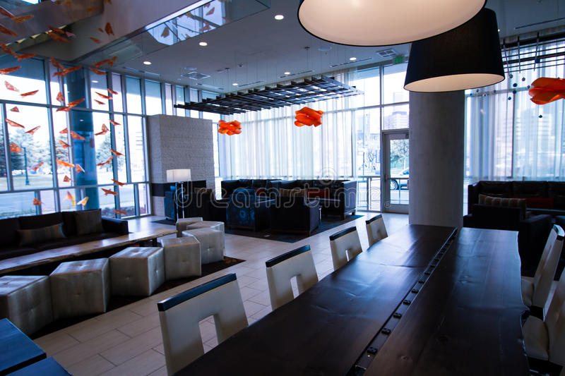 Interior. Of the SpringHill Suites Denver Downtown stock photos