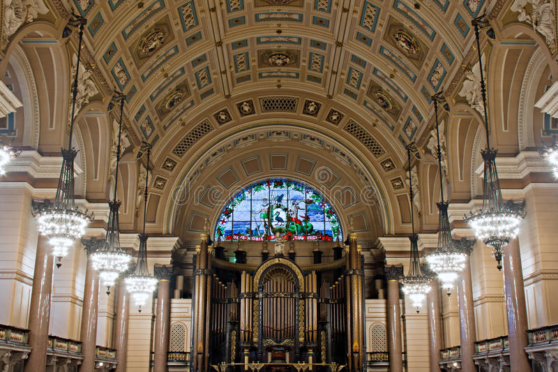 Interior of St Georges Hall, Liverpool, stock photography