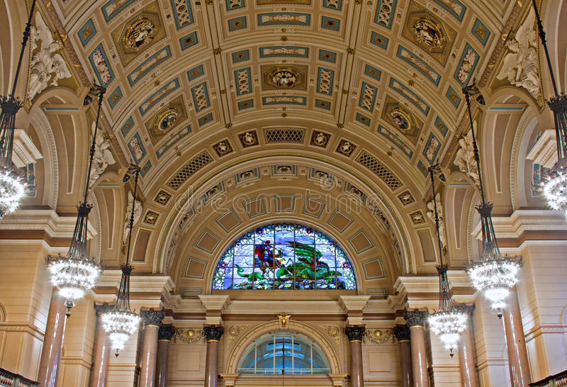 Interior of St Georges Hall, Liverpool, UK. Grade 1 listed building royalty free stock photography
