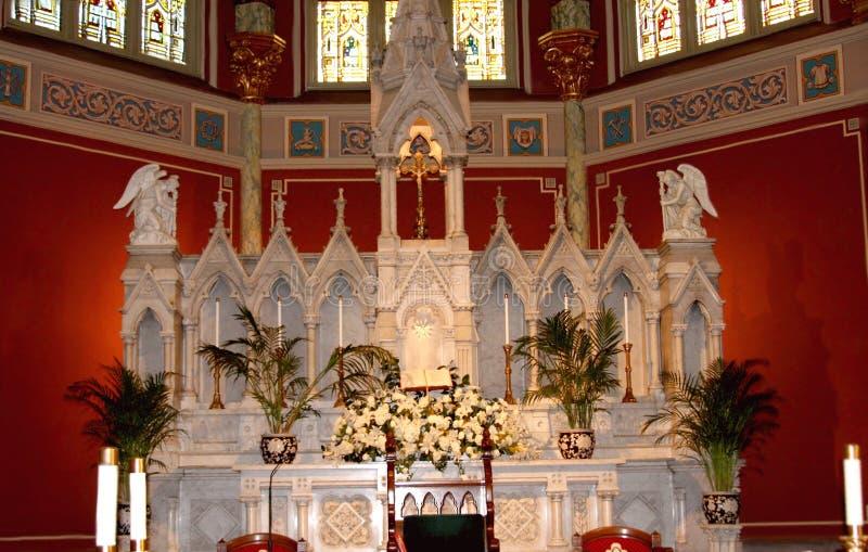 Interior Of  St John Baptist Cathedral  In Savanna Royalty Free Stock Image