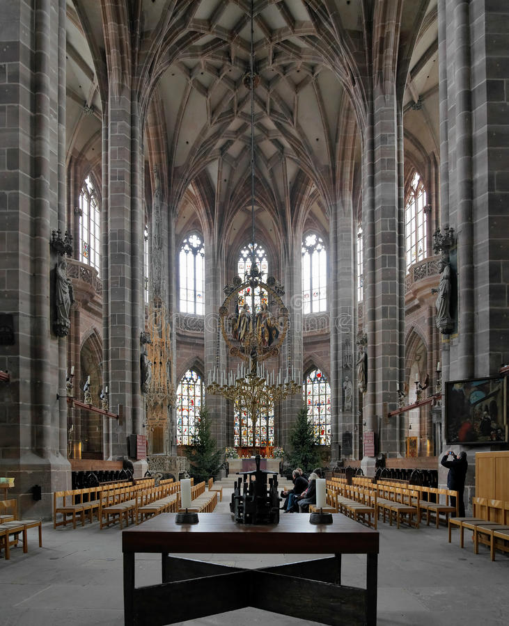 interior of st lorenz church in nuremberg editorial stock image image of architectural. Black Bedroom Furniture Sets. Home Design Ideas