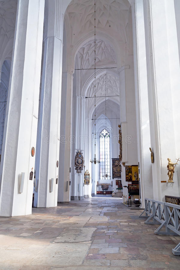 Interior Of St. Mary S Basilica In Gdansk Royalty Free Stock Images