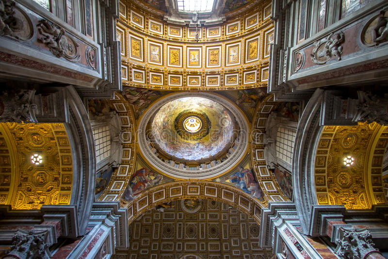 Interior of St. Peters Basilica, Rome royalty free stock photos