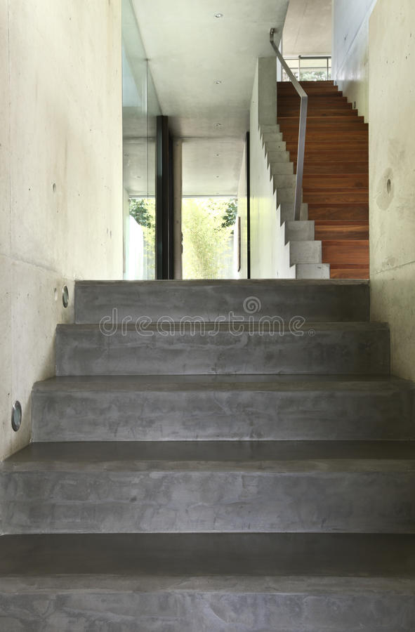 Interior staircase stock photography