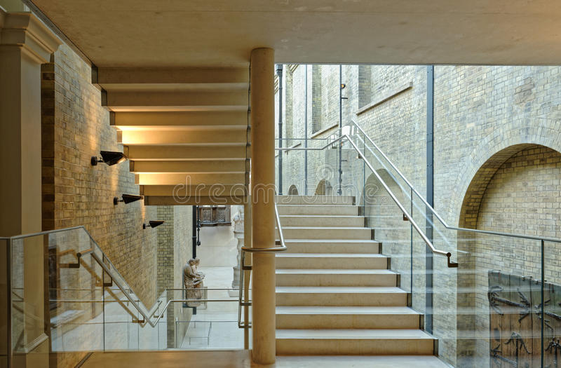 Interior Stairs. Image of interior stiars taken in a modern building, england royalty free stock images
