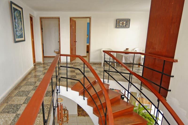 San bartlo, peru: beach hostal interior. Image taken of interior stairs in a local hostal in san bartolo, lima, peru royalty free stock photo