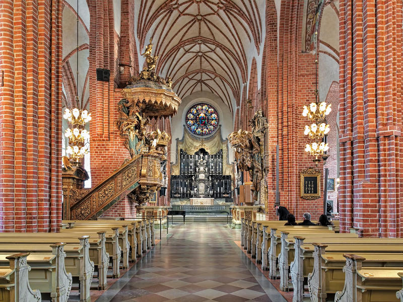 Interior of Storkyrkan (The Great Church) in Stockholm, Sweden. Stockholm, Sweden. Interior of Sankt Nikolai kyrka (Church of St. Nicholas), most commonly known royalty free stock photos