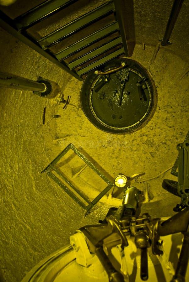 Interior submarino de Lembit imagem de stock
