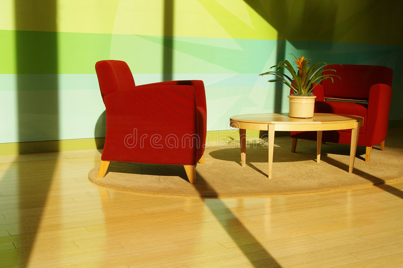 Interior Sunlit foto de stock royalty free