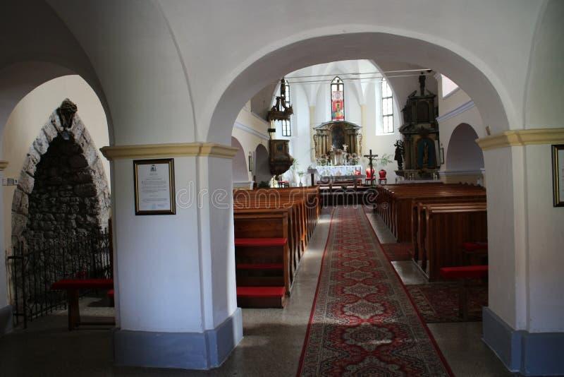 Interior of Sv. Štefan kostol Saint Stephen church near Beckov castle royalty free stock photos