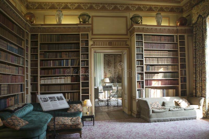 Interior típico do castelo inglês fotografia de stock