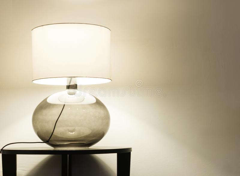 Interior, table lamp stock photo
