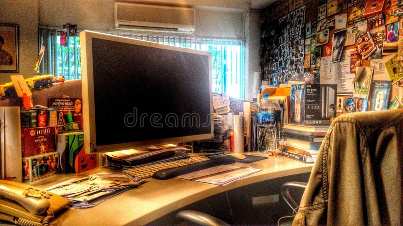 Interior Tailandia del diseño de la oficina foto de archivo