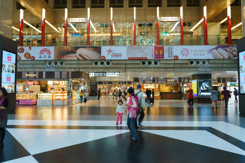 Interior of Taipei Railway Station stock photos