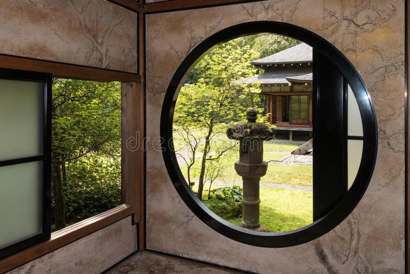 Interior of Tamozawa Imperial Villa in Nikko stock photography