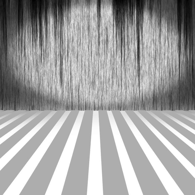 Interior tejado sucio ilustración del vector