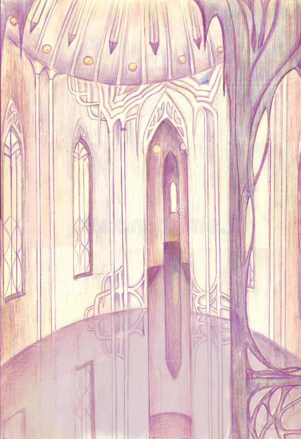 Download The Interior Of The Sanctuary Stock Illustration - Image: 36795435