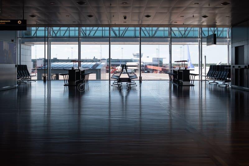 Interior Terminal 5 on Stockholm/Arlanda airport. Stockholm / Sweden - 09 02 2018: Interior of new part of Terminal 5 on Stockholm/Arlanda airport, ARN stock photography