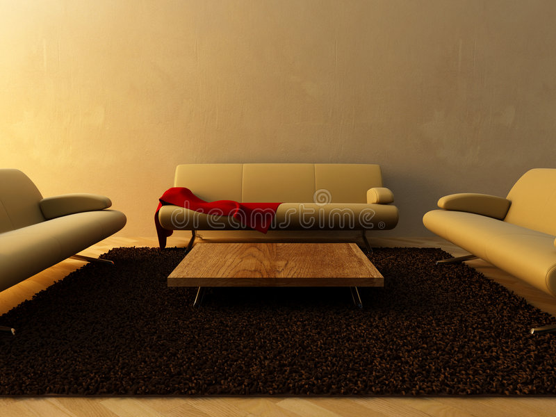 Download Interior - Three Couch On Sitting Room Stock Illustration - Image: 8234741