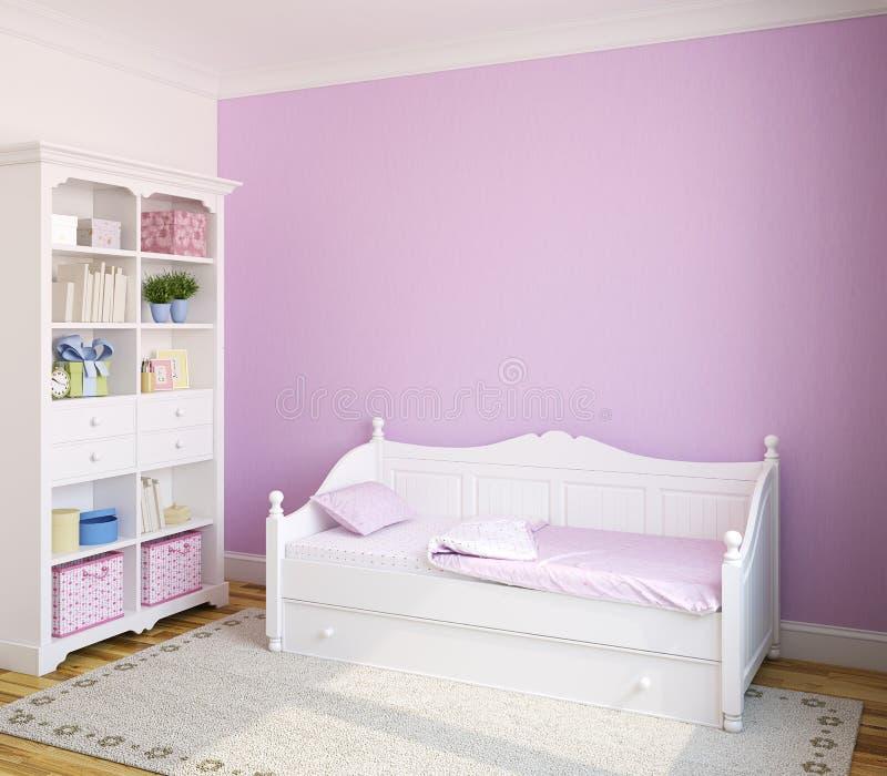 Interior of toddler room. vector illustration