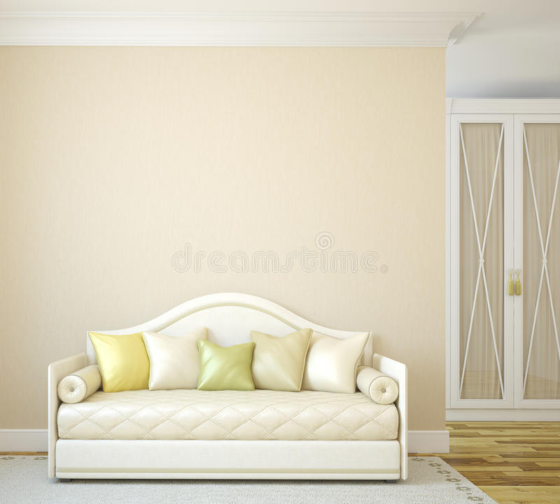 Interior of toddler room. stock illustration