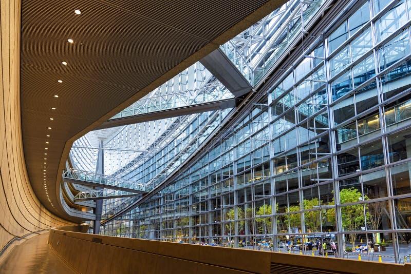 Interior of Tokyo International Forum, Japan royalty free stock image
