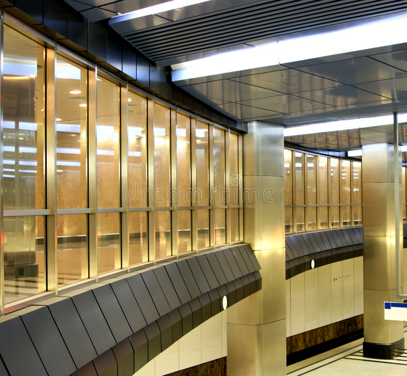 Interior of trade center royalty free stock image