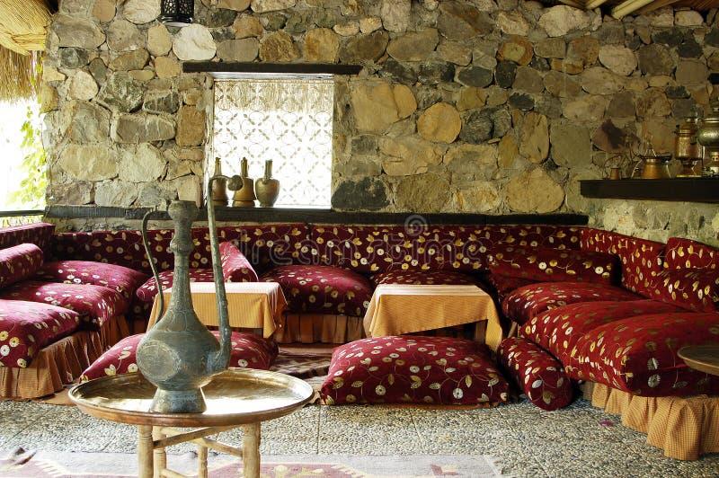 Interior of traditional turkish restaurant stock