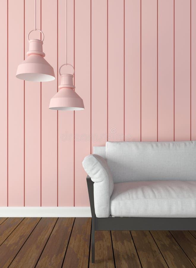 Interior trends 3d render rose quartz stock illustration for Interior decoration for new year