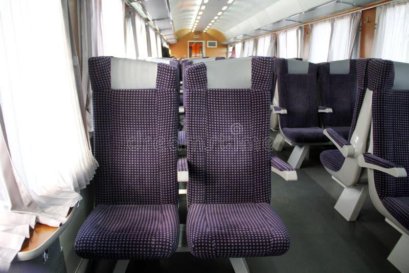 Interior turístico do trem do convite foto de stock royalty free