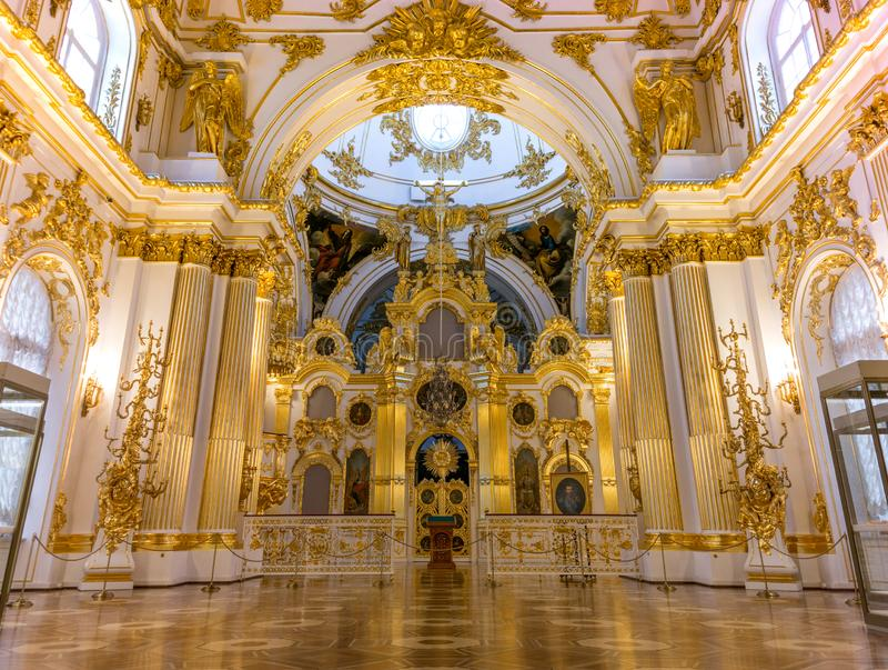 Tzar`s Winter Palace Chapel, Saint Petersburg Russia royalty free stock photography