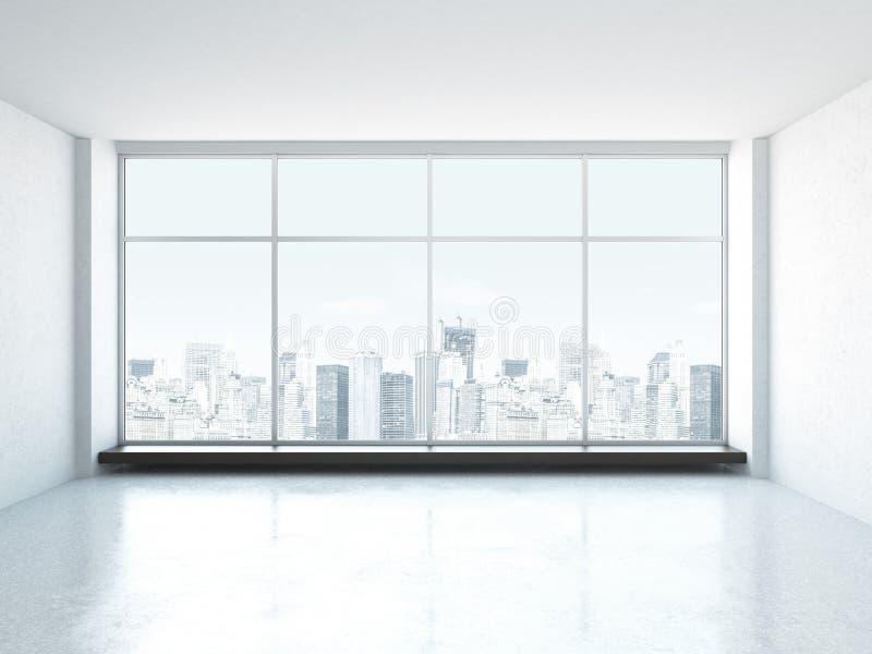 Interior vacío blanco stock de ilustración