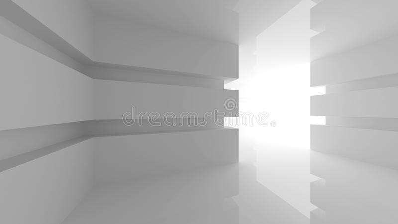 Interior vacío blanco abstracto del sitio stock de ilustración