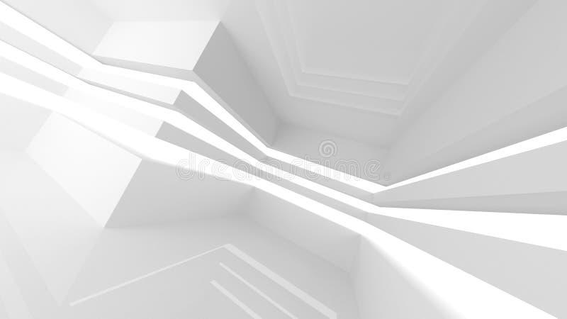 Interior vacío blanco abstracto del sitio con las líneas libre illustration
