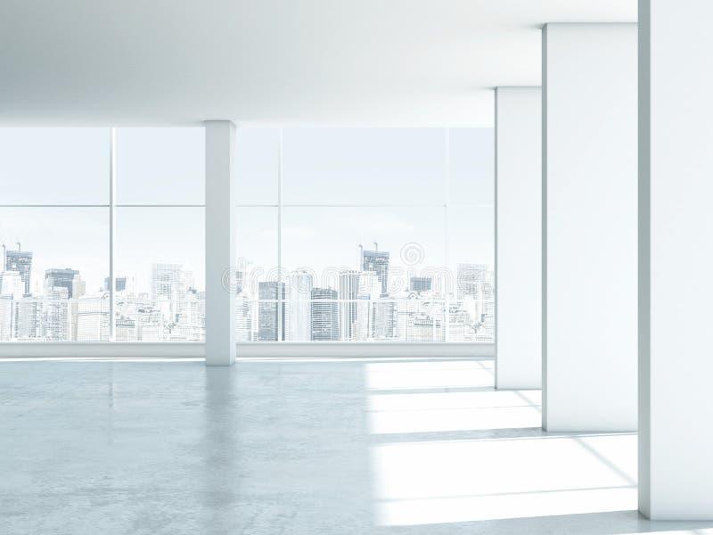 Interior vacío blanco de la oficina stock de ilustración