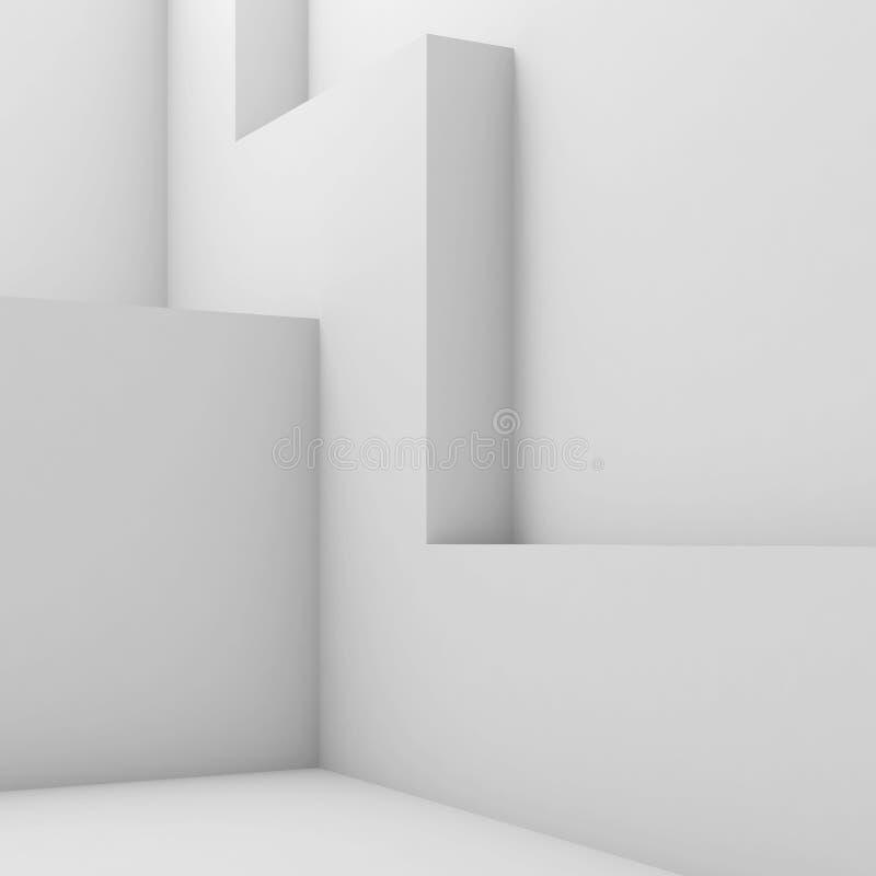 Interior vacío con la decoración geométrica 3d de la pared libre illustration
